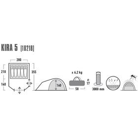 High Peak Kira 5 - Tiendas de campaña - gris